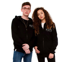 Load image into Gallery viewer, Black Unisex Hoody, Hope - never give up.