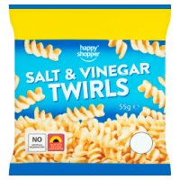HAPPY SHOPPER SALT & VINEGAR TWIRLS, 55g