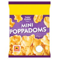 HAPPY SHOPPER MINI POPPADUMS, 25g