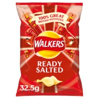 WALKERS READY SALTED CRISPS, 32.5g