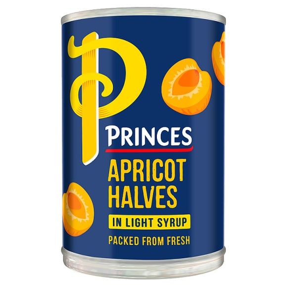 PRINCES APRICOT HALVES IN SYRUP, 410g