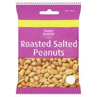 HAPPY SHOPPER ROASTED SALTED PEANUTS, 80g
