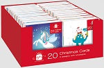 MINI CHRISTMAS CARDS, pack of 20