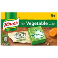 KNORR VEGETABLE STOCK CUBES X8, 80g