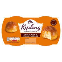 MR KIPLING GOLDEN SYRUP PUDDINGS, 2 pack