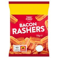 HAPPY SHOPPER BACON RASHERS, 70g