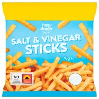 HAPPY SHOPPER SALT & VINEGAR STICKS, 70g