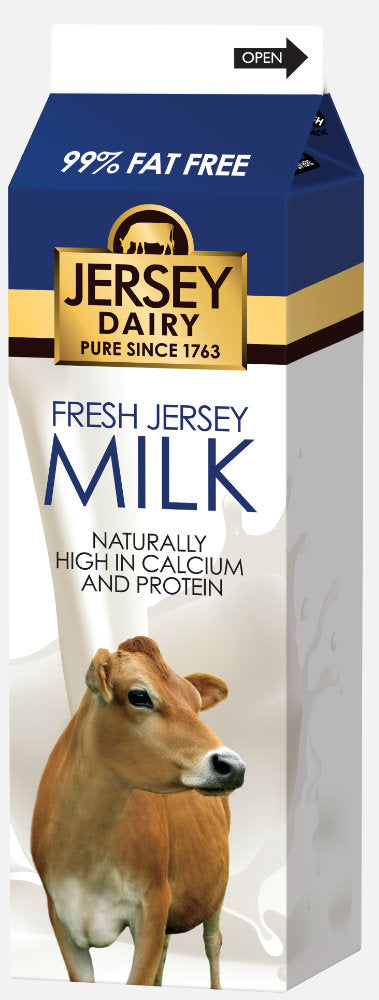 JERSEY DAIRY 1% FAT MILK, 1l