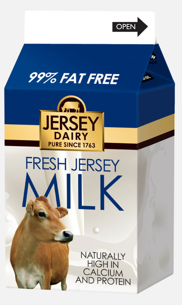 JERSEY DAIRY 1% FAT MILK, 500ml