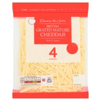 DISCOVER THE CHOICE GRATED MATURE BRITISH CHEDDAR, 200g