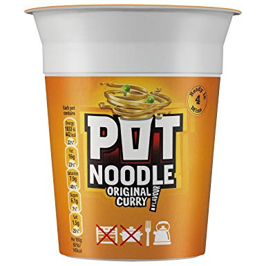 POT NOODLE CURRY, 90g