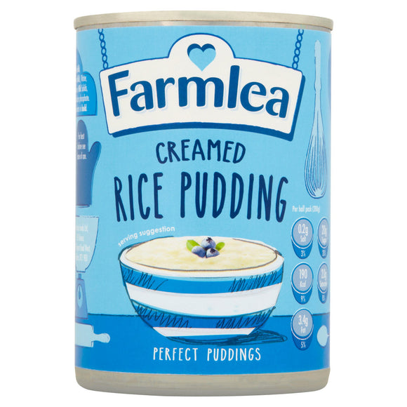 FARMLEA CREAMED RICE PUDDING, 400g