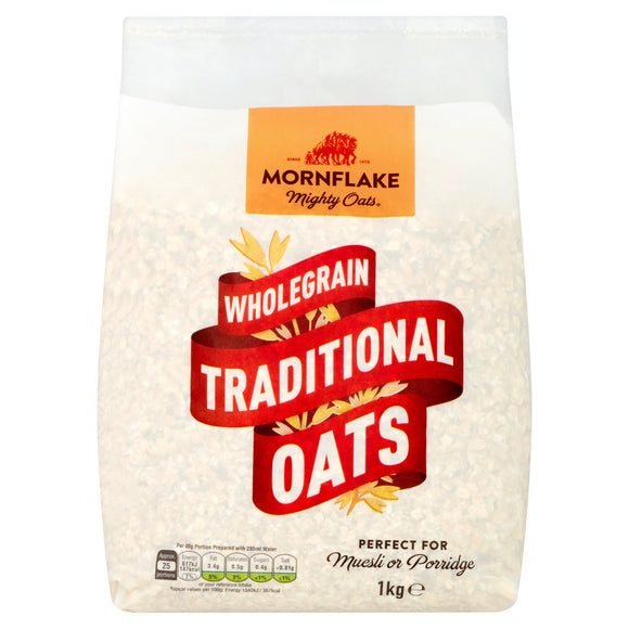 MORNFLAKE TRADITIONAL OATS, 500g