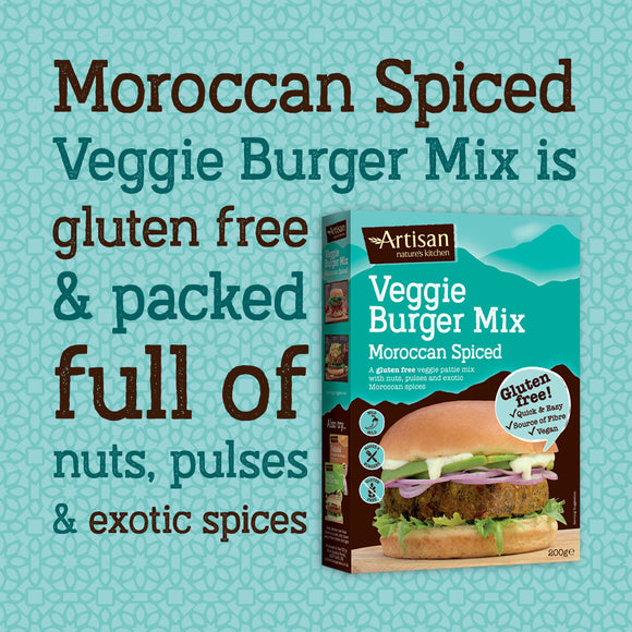 ARTISAN GRAINS MOROCCAN SPICED VEGGIE BURGER MIX