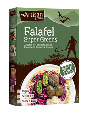 ARTISAN GRAINS SUPER GREENS FALAFEL, 150g