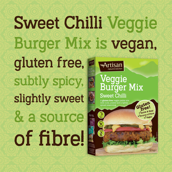 ARTISAN GRAINS SWEET CHILLI VEGGIE BURGER MIX