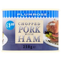 PLUMROSE CHOPPED PORK WITH HAM, 250g