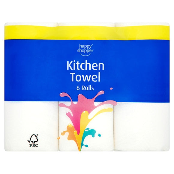 HAPPY SHOPPER KITCHEN TOWEL, 6 pack