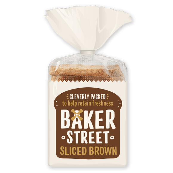 BAKER STREET MEDIUM BROWN BREAD, 600g