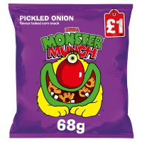 MONSTER MUNCH PICKLED ONION SNACKS, 68g