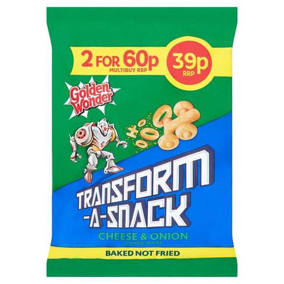 TRANSFORM-A-SNACK SUPER CHEESE & ONION FLAVOUR SNACK, 30g