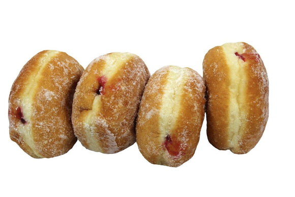 ISLANDS CHOICE JAM DOUGHNUT, pack of 4