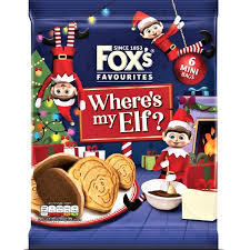 FOX'S HALF COATED ELF BISCUITS, 6 pack