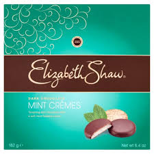 ELIZABETH SHAW DARK CHOLATE MINT CREMES, 182g