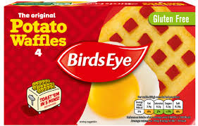 BIRDS EYE POTATO WAFFLES, pack of 4