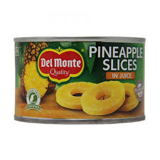 DEL MONTE PINEAPPLE SLICES IN JUICE, 227g