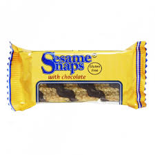 SESAME SNAPS WITH CHOCOLATE