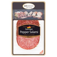 DELICATESSEN FINE EATING GERMAN PEPPER SALAMI, 100g