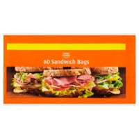 HAPPY SHOPPER SANDWICH BAGS, 60 pack