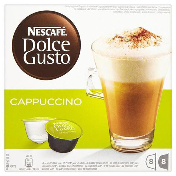 NESCAFE DOLCE GUSTO CAPPUCCINO, 8 pack
