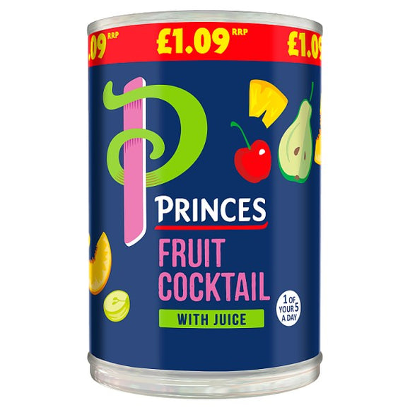 PRINCES FRUIT COCKTAIL IN JUICE, 410g