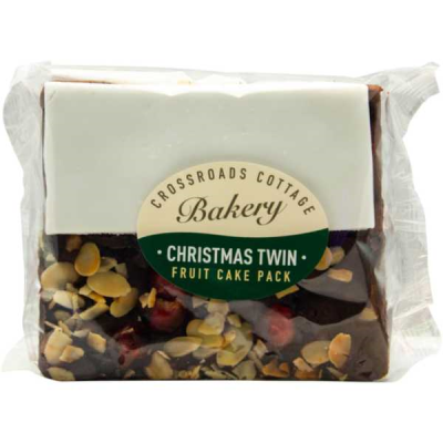 CHERRY ALMOND & ICED FRUIT CAKE TWIN PACK