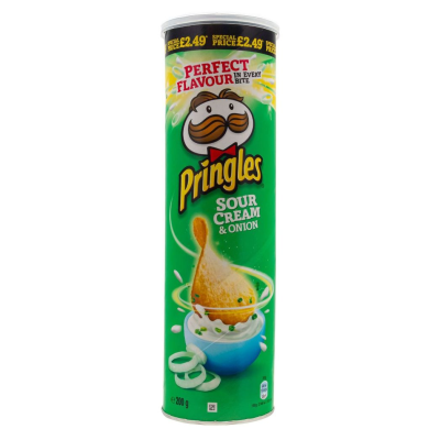 PRINGLES SOUR CREAM & ONION, 200g