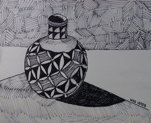 #drawing #art native american vase, 14