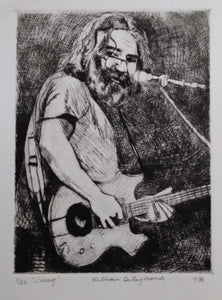 "'Jerry', 9""x12 "" #drypoint #engraving #art #printmaking"