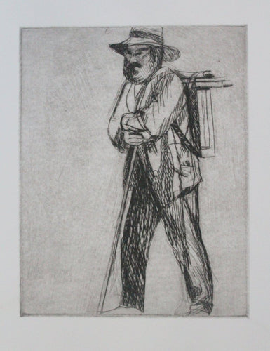 #Cezanne  on his way to paint #pleinair #drypoint #engraving  #art 6