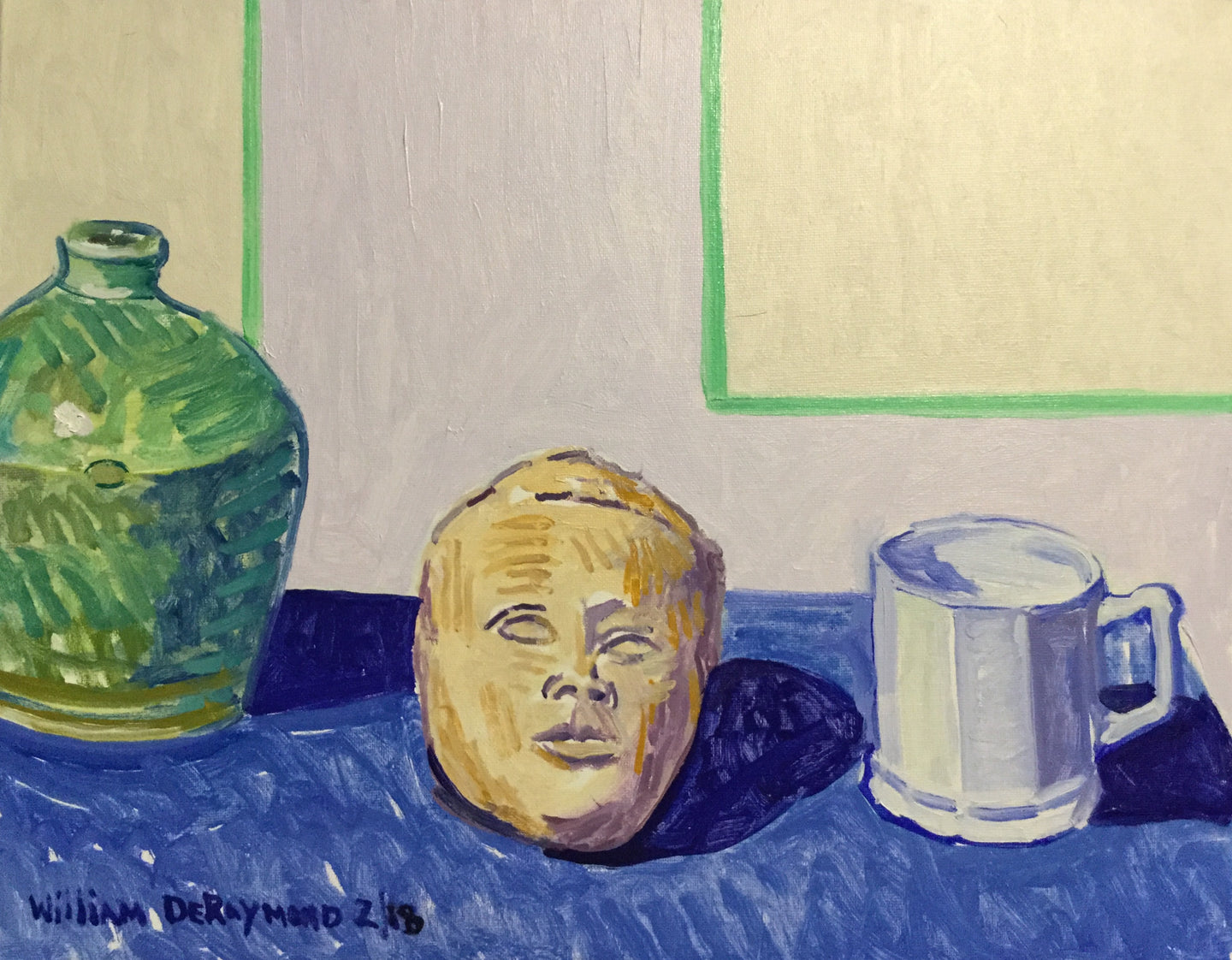 still life #painting with green jug and infant head, 16