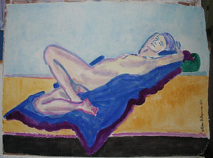 "#watercolor #figure #painting on handmade paper, 22""x30"""