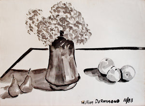 "#zen #art brush and ink #painting composition, 22""x30"", 1983"