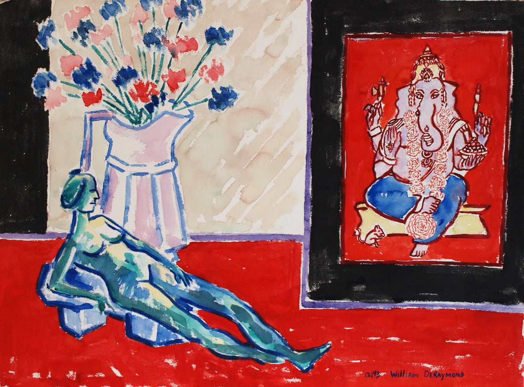 Still Life composition with small reclining figure, 22