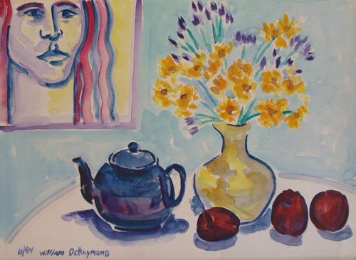 composition with blue teapot, 22
