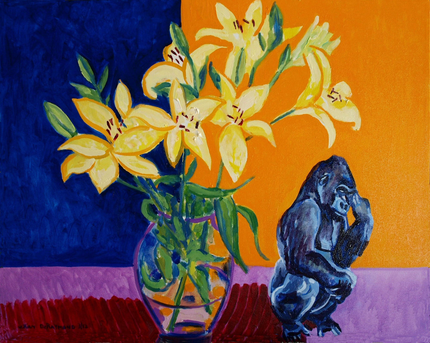 Still life #painting #art with #gorilla 2012