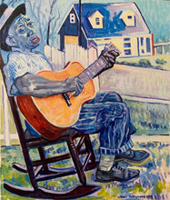"Load image into Gallery viewer, #Portrait #painting #art , oil on canvas, of Mississippi John Hurt 30""x36"""