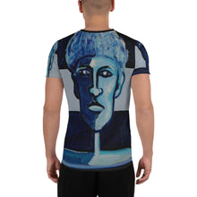 Load image into Gallery viewer, william deraymond #art imaginary #portrait #painting detail of a composition #print on an All-Over Print Men's Athletic T-shirt