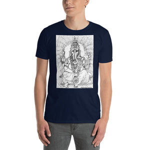 william deraymond #fineart #drawing #print of #Ganesha on a Short-Sleeve Unisex T-Shirt