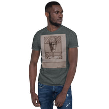 Load image into Gallery viewer, william deraymond #art #drypoint #printmaking detail of a #composition #print on a Short-Sleeve Unisex T-Shirt
